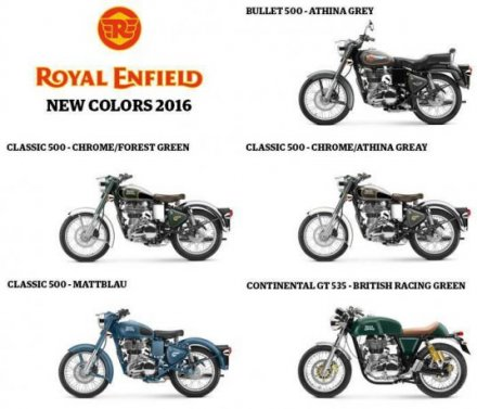 Royal Enfield Modelle 2016