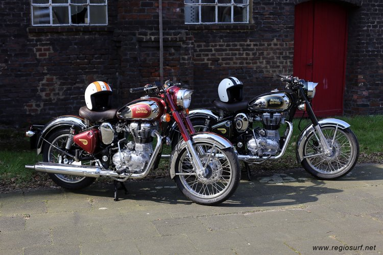 Royal Enfield Classic Chrome Green Red