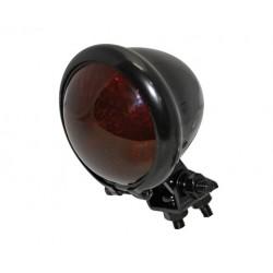 SHIN YO LED-Rücklicht BATES STYLE, schwarzes Gehäuse, rotes Glas