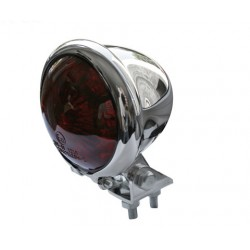 SHIN YO LED-Rücklicht BATES STYLE, verchromtes Gehäuse, rotes Glas